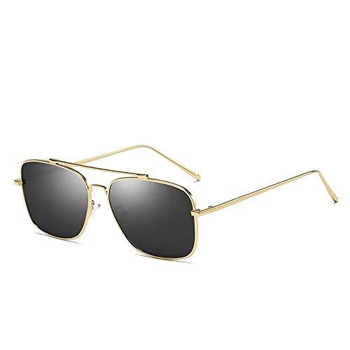 Easy Go Shopping Metallic Colorful Sunglasses Fahrerspiegel Herren Driving Fashion Sonnenbrillen Sonnenbrillen und Flacher Spiegel (Color : 01 Schwarz, Size : Kostenlos)