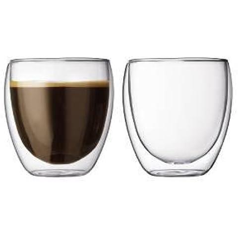 ZIMEI Novità di tazze di vetro isolante doppio creativo espresso tazze ispessito a forma di uovo in vetro borosilicato tazze 240ml , 6