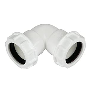 Primaflow 90014039 Compression Waste Knuckle Bend, White, 32 mm, Set of 3 Pieces