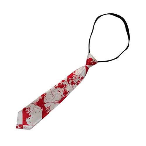 Amosfun Halloween Bloody Krawatte Halloween Party Dress up Kostüm für Männer Jungen 30 * 9,5 cm