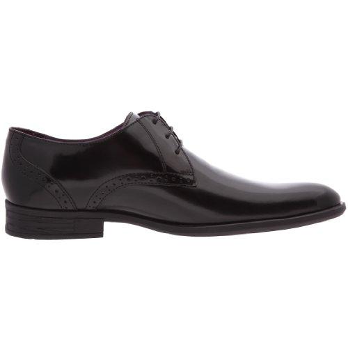 Hush Puppies Kensington, Chaussures à lacets homme Noir (Blk Polished Lea)
