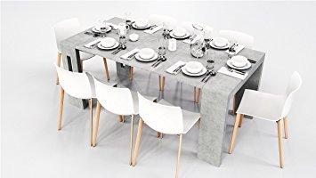 Tavolo consolle allungabile modello alex cemento cm 44/186x90 h76