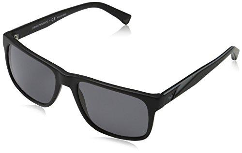 Emporio Armani Unisex EA4071 Sonnenbrille, Schwarz (matte black 504281), Large (Herstellergröße: 56)