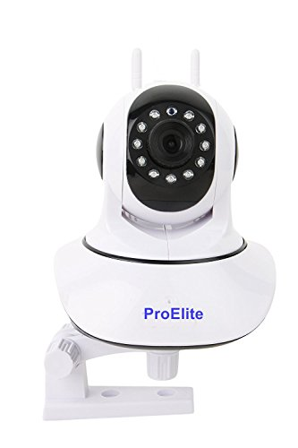 ProElite IP01A WiFi Wireless HD IP Security Camera CCTV [Watch LIVE Demo] (supports upto 128 GB SD card) [Dual Antenna]