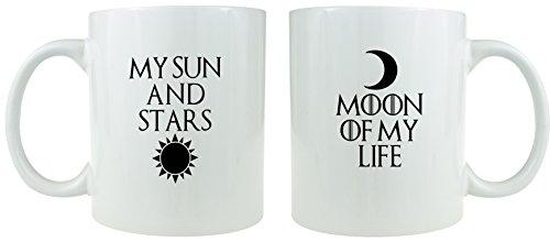 My Sonne und Mond, Sterne Of My Life-Kaffeebecher aus Keramik Set-Macht ein tolles Geschenk für Game of Thrones Fans.