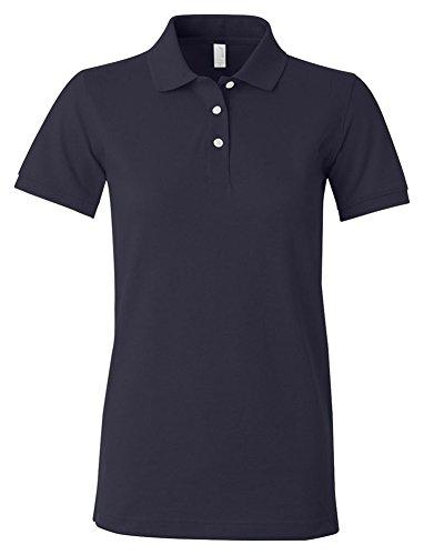 Amboss Damen-Piqué Polo Shirt, Nvy, Größe XXL