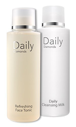 Daily Diamonds Nettoyage du visage Lot de 2 x 200 ml Daily Cleansing Milk + Refreshing Face Tonic