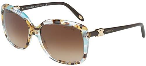 Tiffany & Co. Damen 0TY4076 82413B 58 Sonnenbrille, Blau (Pois Havana Blue/Browngradient),