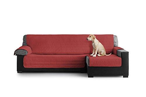 Eiffel-Textile-Cubre-Sofa-Acolchado-Chaise-Longue-Derecho-Polister-Granate-y-Gris-190x195x3-cm