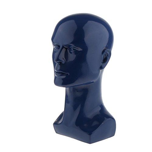 MagiDeal Männliche Schaufensterpuppe Mannequin Modellkopf Perückenkopf Perücken Hüte Schmuck Display Anzeige Halter Ständer Dekokopf