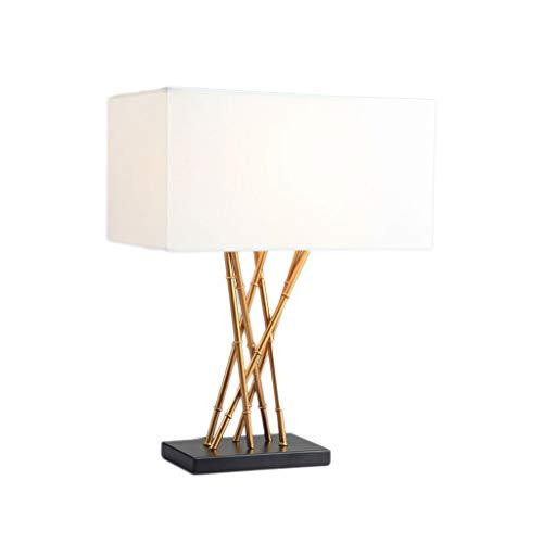 Lámparas De Mesa Modernas Lámpara de mesa de hierro de bambú ...