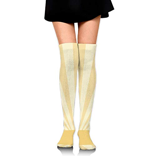 ouyjian Knee High Socken Yellow Stripes Pattern Long Socken Boot Stocking Compression Socken for Women