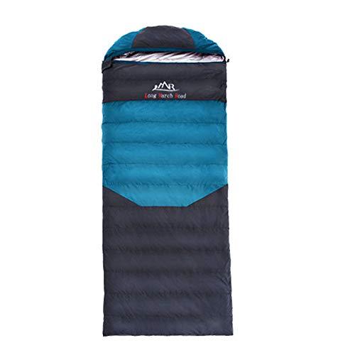 Fgking sacco a pelo per adulti e bambini, realizzato in poliestere ripstop, busta singola 3 stagioni sacco a pelo da campeggio per un sonno confortevole e caldo,verde,800g