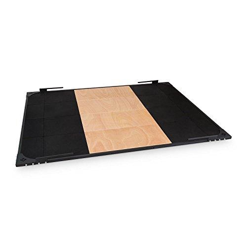 CAPITAL SPORTS Smashboard • Gewichtheberplattform • Fallschutzmatte • Weightlifting Platform • Fallschutzplatte • Abmessung: 2 m x 2,5 m • Gewichtsfang aus Gummi • Standfläche aus Multiplex • Stahlhalterungen • Rollschutz für Langhanteln • schwarz - Boden-plattform