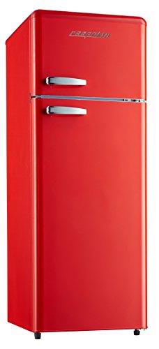 respekta RETRO Kühlschrank Kühl-Gefrierkombination Kühlschrank KG 146 rot A++