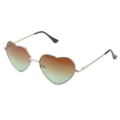 WZYMNTYJ Unisex Vintage Style Herzen Spiegel Objektiv Für Männer Brille Brille Sonnenbrille Feminino Sonnenbrille Frauen Mode Niedlichen 5 Farbe