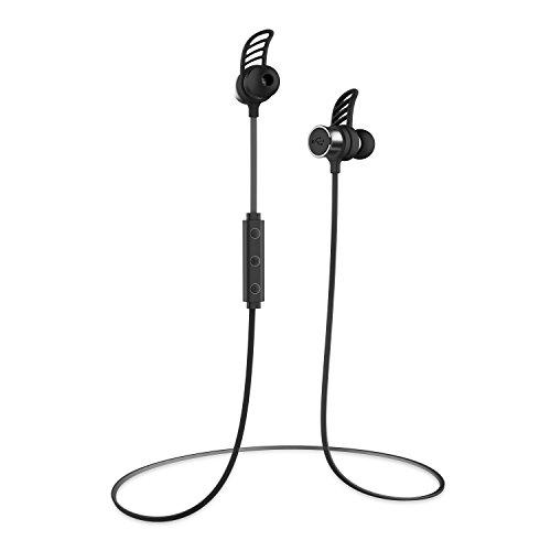 UMi Cuffie Bluetooth Auricolare Senza Fili Leggero Solo 6g con Microfono Impermeabile IPX6 Garanzia a Vita per il Sudore e le Ondate Compatibili con Smartphone Iphone e Android, PC, MP3, Tablet - Nero