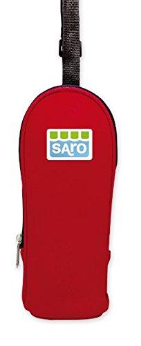 SARO - Fonda thermique de néo-vêtement pour maintenir la température froide/chaleur des biberons et des thermos de bébés. Elle est capable pour les biberons et les thermos (ROUGE)