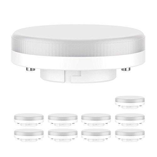 ledscom.de GX53 LED Leuchtmittel 6.3W=40W 450lm 100° warm-weiß, 10 Stk.