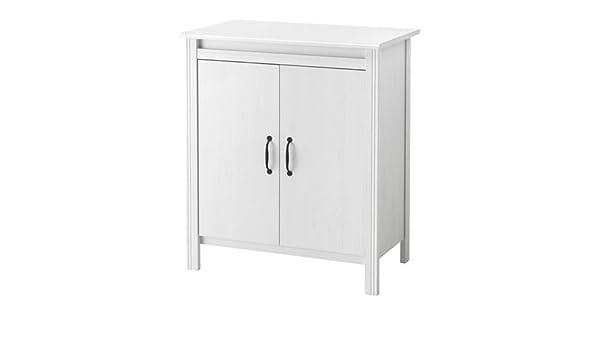 BRUSALI - Schrank mit Türen, weiß: Amazon.de: Küche & Haushalt