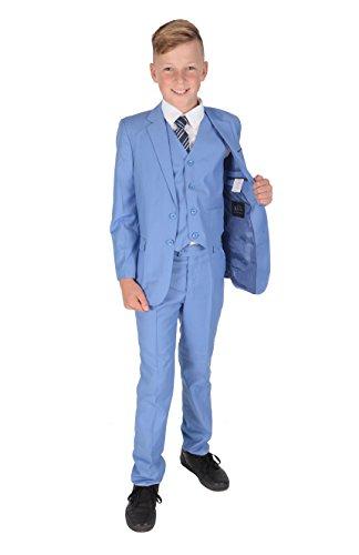 Cinda Jungen Formale Hellblau Anzüge Hochzeits-Seite-Jungen-Partei-Abschlussball 5 Stück-Klage 128-134
