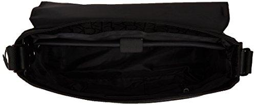 Tommy Hilfiger  Tom Logo Messenger With Flap, Sac pour homme à porter à l'épaule Noir