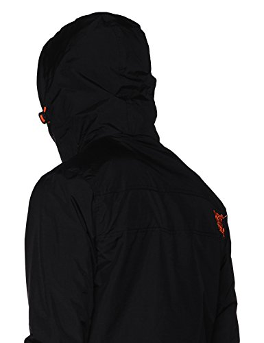 Superdry Herren Sportjacke Tech Hood Pop Zip Windcheater Schwarz (Black/vermillion)