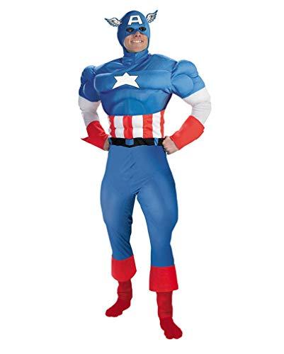 Avenger First Captain Cosplay Kostüm America - Horror-Shop Captain America Muskel Kostüm Supreme