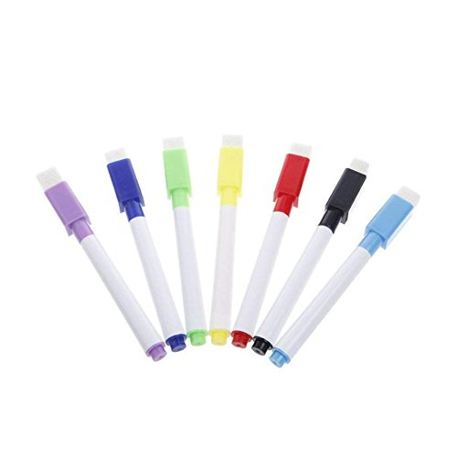Pennarelli per lavagna bianca magnetica cancellabile a secco Per lavagna bianca, penna con cancellino incorporato 8PCS