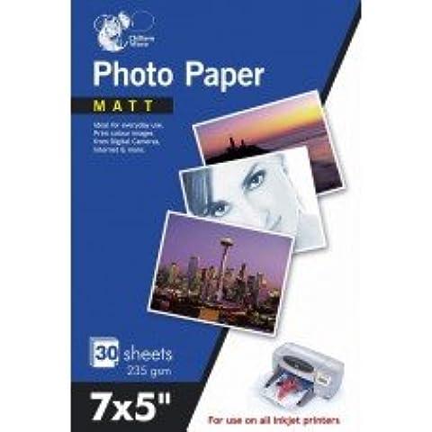 60Hojas de papel fotográfico mate 7x 5