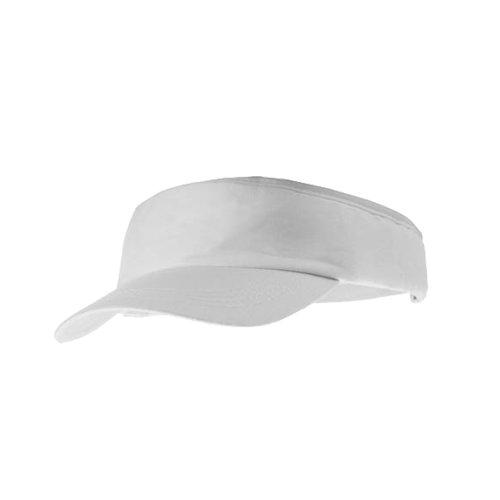 Tennis Hat (eBuyGB Unisex 1259106Sun Summer Sports Schatten Gap, weiß, One Size)