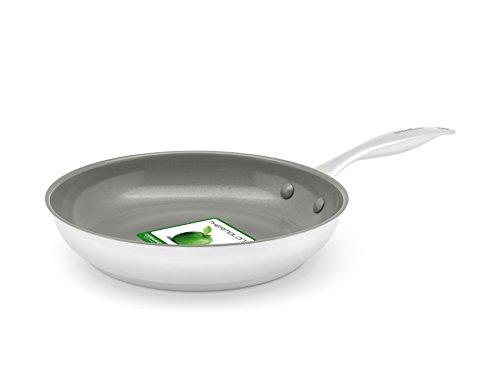 GreenChef Profile Plus Bratpfanne 30cm, Edelstahl, Silber, 30 cm