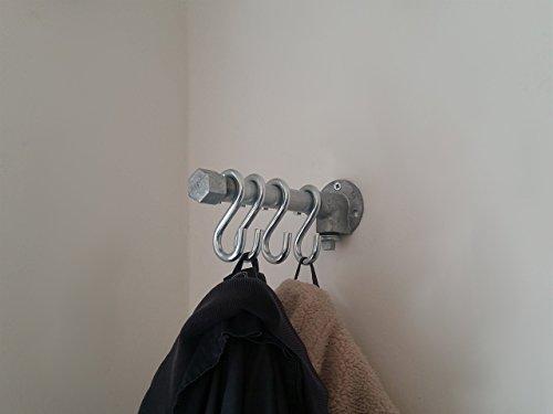 Garderobe, Industrial Design 20cm, 4 Haken, Wandgarderobe, Handtuchhalter