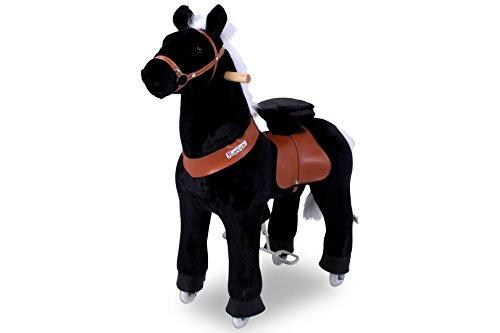 """Ponycycle """" Black Beauty"""" Pferd schwarz, Pony auf Rollen fahrendes Schaukelpferd und Kuscheltier für Ihr Kind von MyPony (Medium)"""
