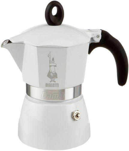 Bialetti Dama - Cafetera italiana, 3 tazas, color blanco