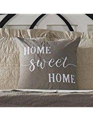 Piper Classics Home Sweet Home Kissenbezug, 50,8x 50,8cm Farmhouse Style Accent Kissen mit aufgesticktem Schriftzug -