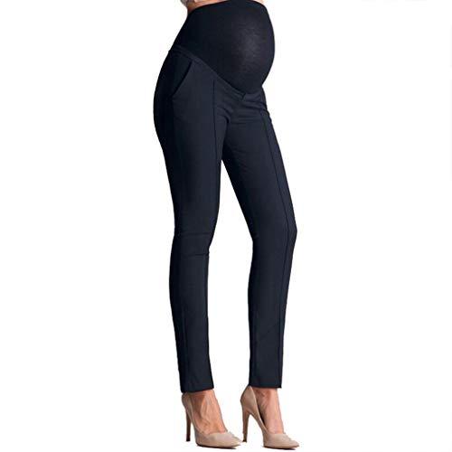 Pantalones Trabajo Leggins Embarazada Invierno Premamá Pantalones Maternidad Pantalones Leggings Embarazo elásticos