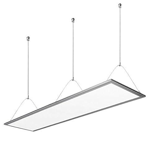 LE 36W LED Panel, Ersatz für 80W Leuchtstoffröhre, 2700lm, Neutralweiß Tageslichtweiß, 4000K, 295*1195mm, LED Panelleuchte mit Befestigungsmaterial und Treiber/Trafo, LED Panellampen, LED Deckenleuchte, Pendelleuchten