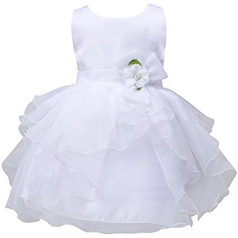 MORESAVE Neonate Fiore multistrato principessa vestito dalla festa nuziale spettacolo