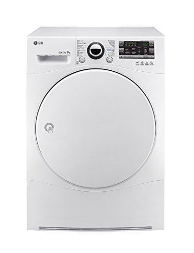 LG RC8055AH2M Independiente Carga frontal 8kg A++ Color blanco - Secadora (Independiente,...