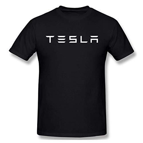 Mens Vintage Tesla Logo T Shirt Black