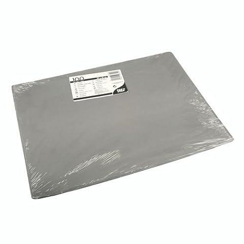 Sets de Table, papier 30cm x 40cm gris, 100Pièces