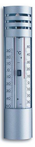 Gartenthermometer TFA 10.2007 Min-Max Alu-Thermometer