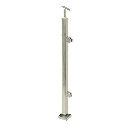 Acero inoxidable Barandilla postes rectangular 40x 40con pinzas para cristal Cristal barandilla...