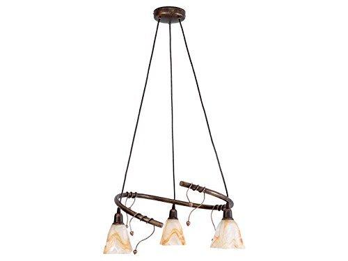 Rustico lampadario 3 x E14 per la sala da pranzo, soggiorno rustico sospeso luci lampade floreale a forma di lampadario lampada soffitto illuminazione lampada interno pendolo