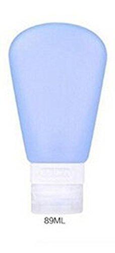 Edealing Bouteilles 89ml de voyage avec fuite Preuve FDA crème de silicone approuvé Jar (Bleu)