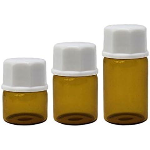 Oli essenziali di vetro ambrato 30bottiglie vuote ricaricabili per aromaterapia