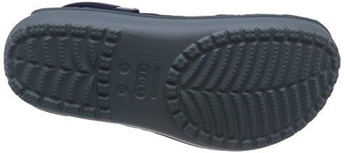 Crocs Duet Wave Clog Unisex-Erwachsene Clogs Blau (Nautical Navy/Concrete)