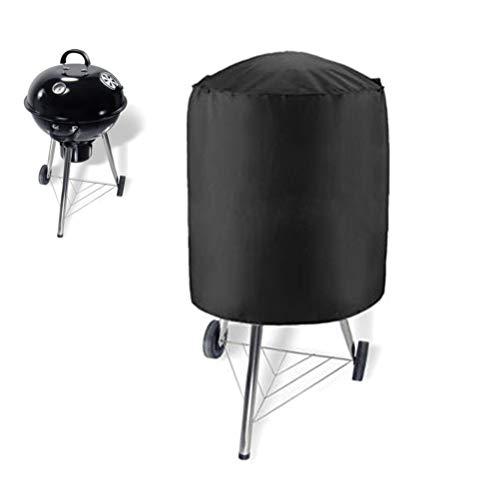 Hihey Grillabdeckung für Rundgrills Outdoor Barbecue Grill Abdeckung BBQ Holzkohle Barbecue Raucher Wasserkocher BBQ Grill Abdeckung(77 × 58cm) -