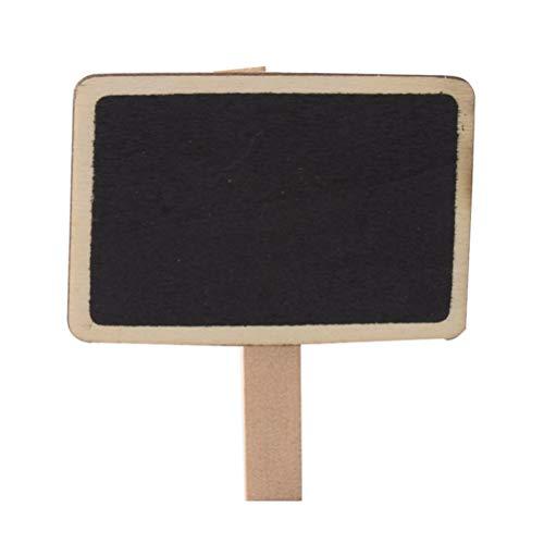 ni Tafel mit Holzclip Anschlagbrett mit Foto Clip für Hochzeitsfeier Feier ()